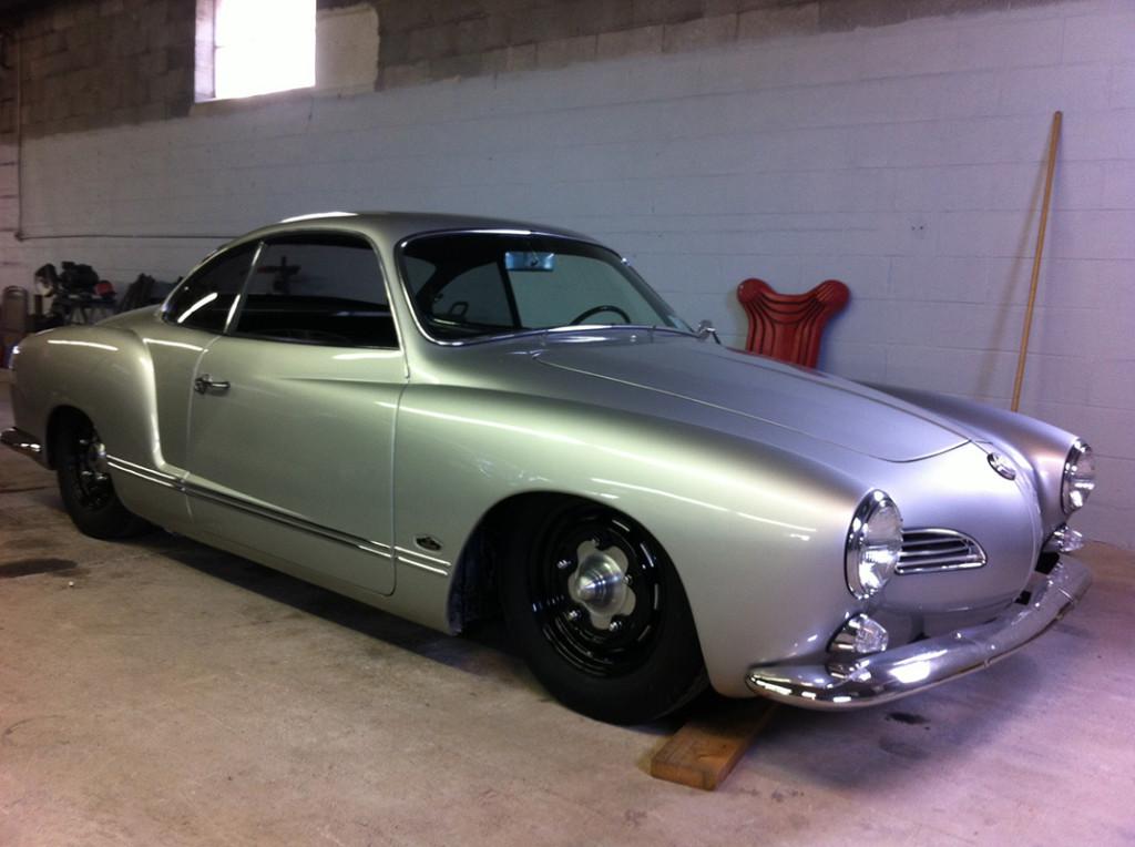 Powder coated wheels for nice Ghia